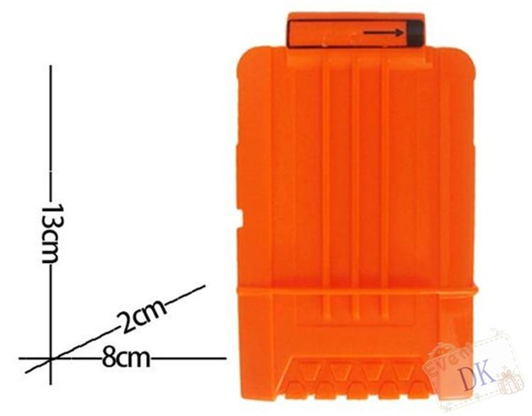 Soft Bullet Clips PINCHUANGHUI For Nerf Toy Gun 15 Bullets Ammo Cartridge  Dart Nerf Gun Clips