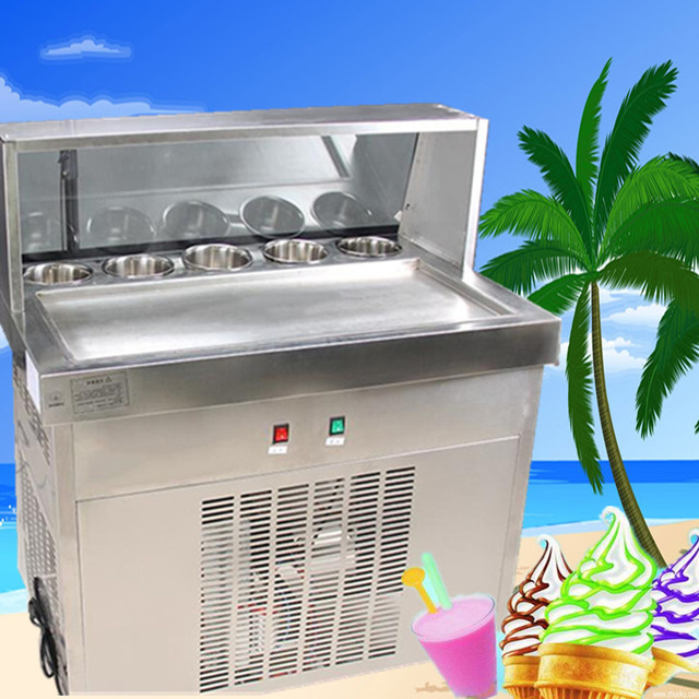Freight Free Ce Certification Fried Ice Cream Machiner22 Fried Ice