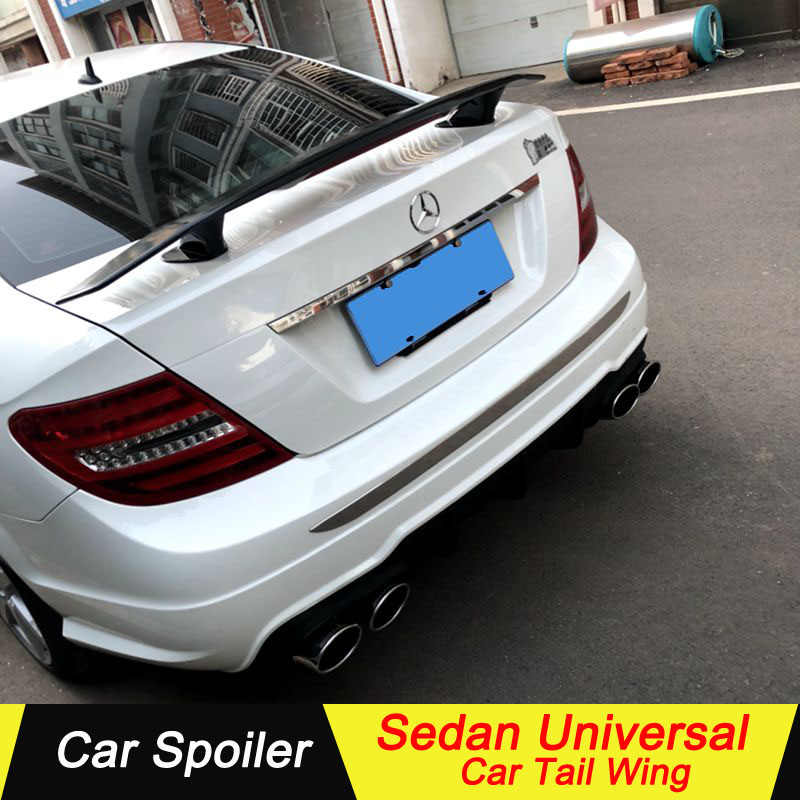 Sedan Universal Spoiler For mercedes w204 c180 c200 2009 2013 ABS beautifully decorated car tail trunk