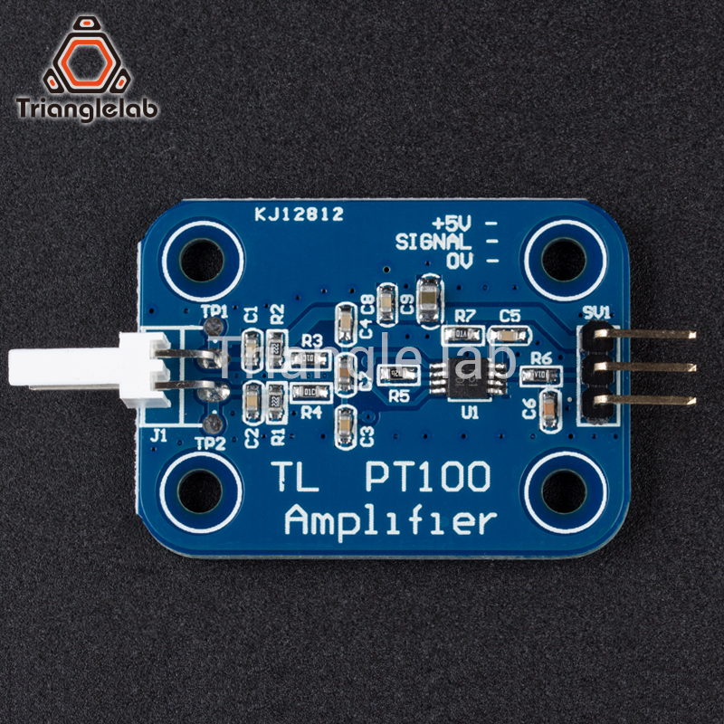 Trianglelab 3d printer part PT100 Amplifier Board for higher temperatures for E3D V6 HOTEND 2017 PT100 sensor free shipping