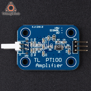 Trianglelab 3d printer part PT100 Amplifier Board for higher temperatures for E3D V6 HOTEND 2017 PT100 sensor free shipping 3d printer control board diy kit part tronxy melzi 2 0 1284p 3d printer pcb board ic atmega1284p accessories free shipping