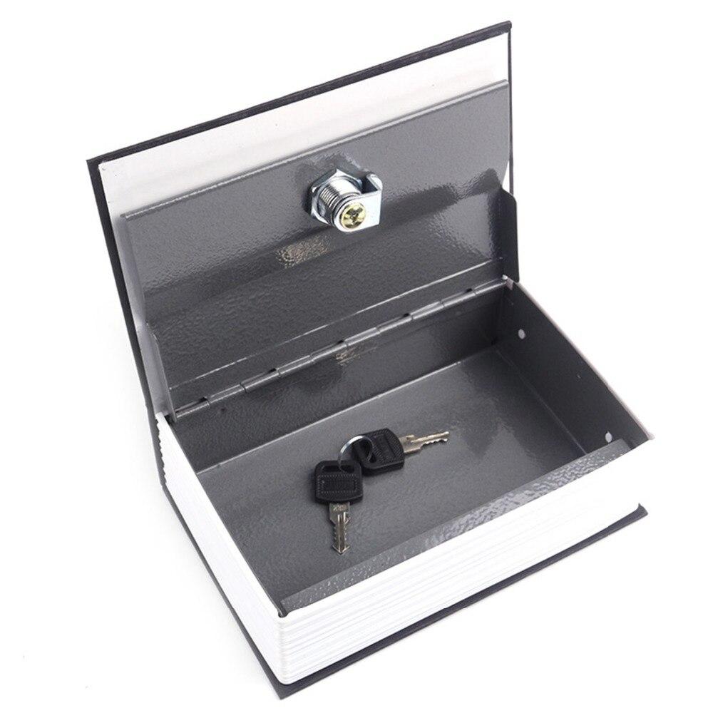 Security Simulation Dictionary Book Hidden Safes Case Home Cash Money Jewelry Locker Secret Safe Storage Box With Key Lockers
