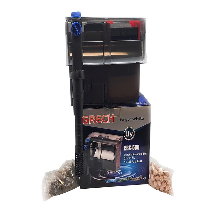 Us 53 99 Ncfaqua Grech Cbg 500 Multi Tahap Hang Di Belakang Pompa Filter Akuarium Dengan 5 W Uv Sterilizer Untuk 10 30 Galon Tangki Ikan 500l H In