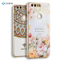 Super 3D Relief Printing Pattern Soft TPU Case For Huawei Honor 8 Phone Back Cover Ultra