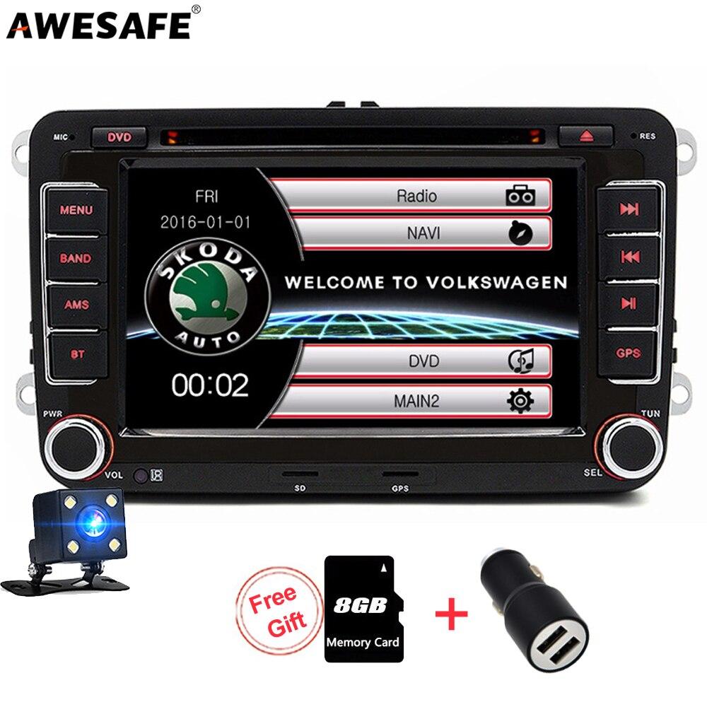 awesafe 2 din car multimedia player dvd gps radio for. Black Bedroom Furniture Sets. Home Design Ideas