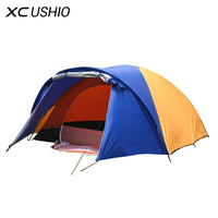 320x210x145cm Large Doule Layer Tent 2 Room For 3 4 Person Outdoor Camping Hiking Hunting Ice