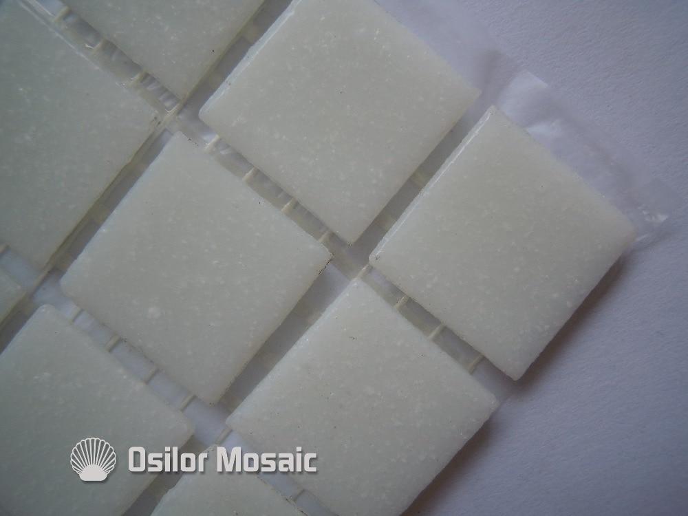 Spedizione gratuita bianco piastrella a mosaico in vetro piastrella