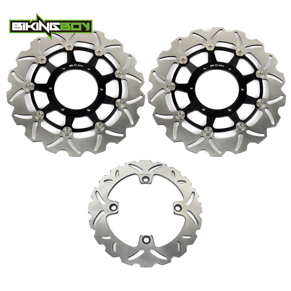 BIKINGBOY Front Rear Brake Discs Disks Rotors For <font><b>HONDA</b></font> CB <font><b>600</b></font> F CB600F <font><b>Hornet</b></font> / ABS 2007 <font><b>2008</b></font> 2009 2010 2011 2012 2013 2014 image
