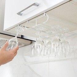 Otherhouse rack de vidro vinho pendurado suporte copo de vinho barra taça stemware rack armazenamento prateleira cabide ferro cozinha organizador
