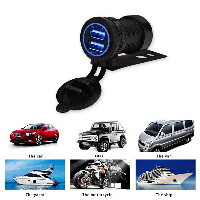 12V երկկողմանի մոտոցիկլ USB լիցքավորիչ - Ավտոմեքենաների էլեկտրոնիկա - Լուսանկար 2