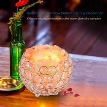 Himalayan Salt Lamp Natural Pink Crystal Rock Salt Night Lamp Bowl 2x15W Bulbs Replacement Night Table Desk Light цена и фото