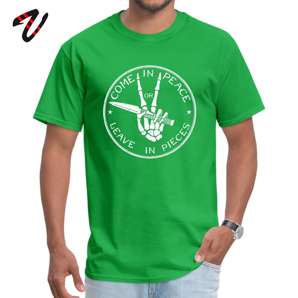 Street Come in Peace T-Shirt 2019 Discount Summer Short Sleeve O-Neck Tops Shirt Cotton Men's Fitness Tight T-Shirt Come in Peace 3117 green