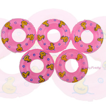 Wholesale Free Shipping 25 Pcs Mini Pink Swimming Buoy Lifebelt Ring Accessories For Barbie Doll Swimming Laps Baby Gift Toy
