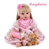 Kaydora 22 дюймов 55 см принцесса Reborn Bebe куклы Детский сюрприз ручной работы lol reborn Baby doll Стиль Куклы Горячая распродажа Рождественский подарок