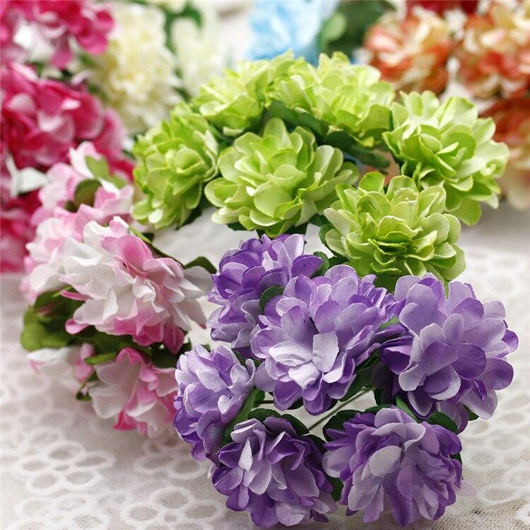 hot sale 6pcs bunch diameter silk artificial flower bouquet mini carnations flowers for wedding. Black Bedroom Furniture Sets. Home Design Ideas