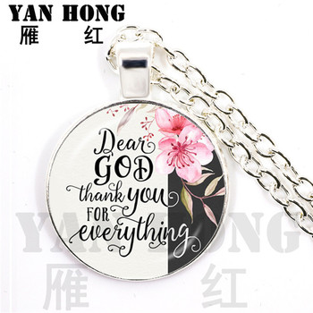 YANHONG Christian jewelry Inspirational Jesus Vintage Chain Necklace Faith Bible Pendant She believed she could,so she did. image