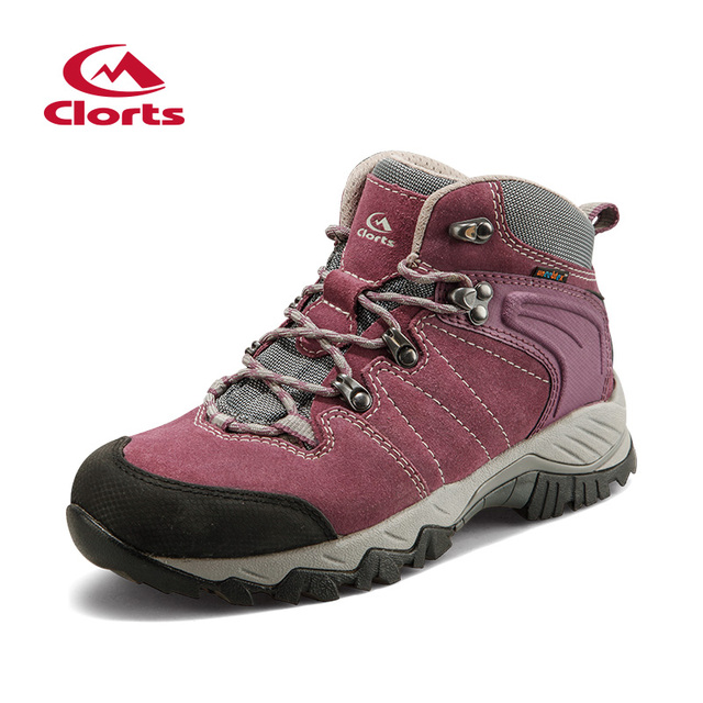 Clorts Hiking Boots for Women Cow Suede Waterproof Outdoor Trail Sport Shoes Women Hiking Shoes HKM-822E/F