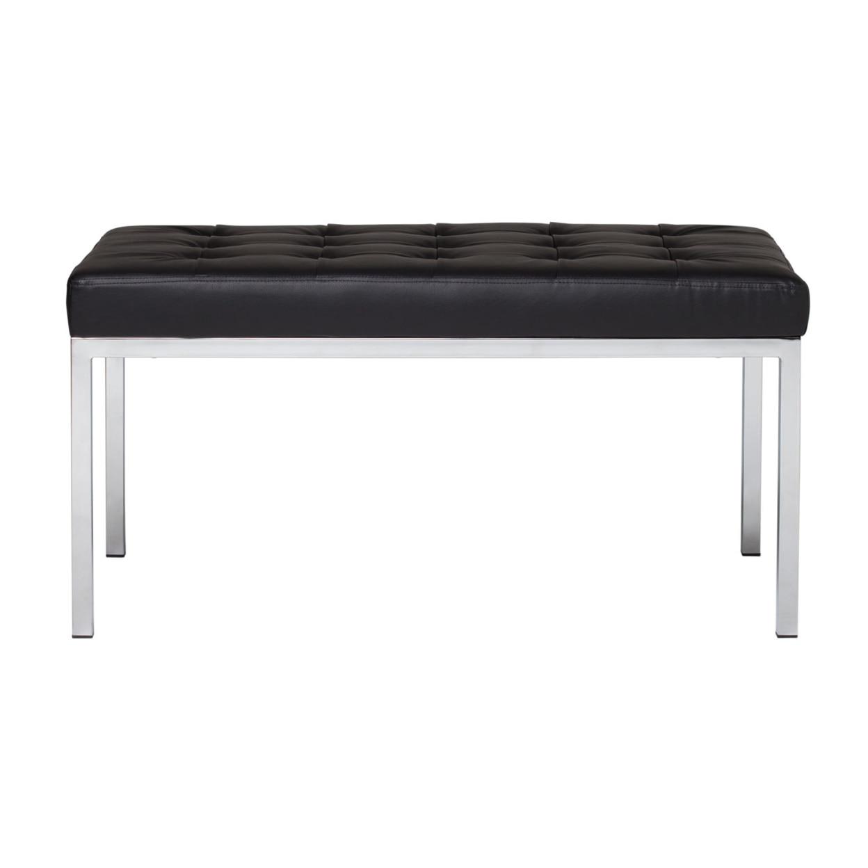 Studio Designs Home Office Lintel 35 Bench Bonded Leather - Black