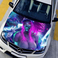 Car Hood Waterproof Membrane Sexy Hip Hop Styling Rally Car Stickers For golf S3 Opel Kia Vehicle Racing Vynil Sticker On Car
