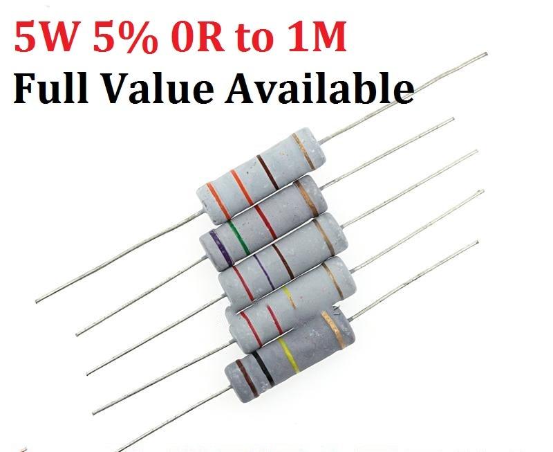 10pcs DALE R5-2B Resistor 2W 18K 1/%