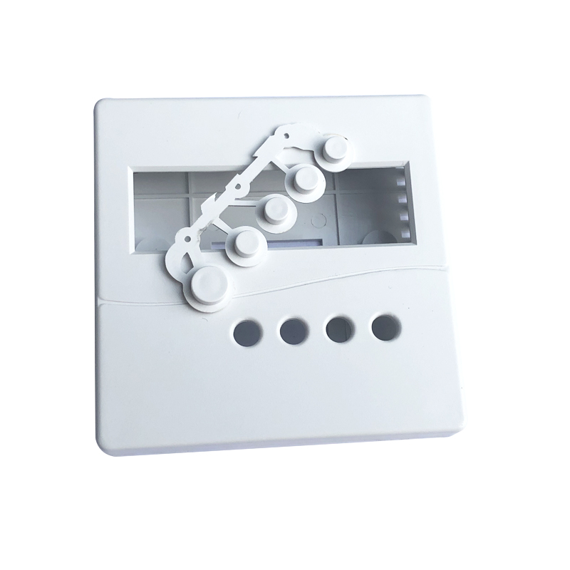 1pc White Electronic Project Box Practical Plastic Enclosure Case With Button Caps For DIY LCD1602 86x86x26mm
