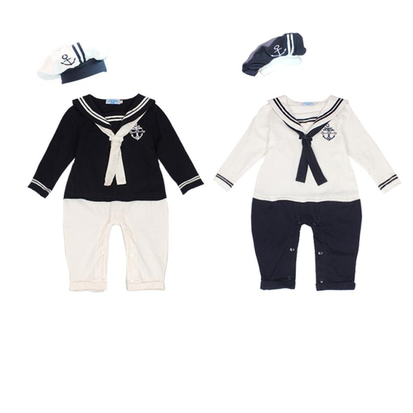 toddler boys clothing 2pcs Cotton Short Sleeved Navy baby sailor suit + hat clothing set	kids boy clothes	 moda infantil good 2017 new boys clothing set camouflage 3 9t boy sports suits kids clothes suit cotton boys tracksuit teenage costume long sleeve