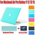 Сумка для ноутбука Матовая Случай 3 В 1 для Apple Macbook Air 13 Pro 13 Retina 12 15 Для Mac book Жесткий Защитный Чехол Случаи без Логотипа