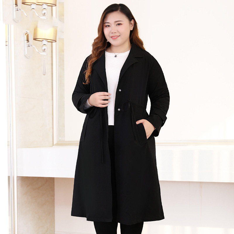 Autumn New Plus Size 10xl 9xl 8xl Long Trench Coat For Women 2018 Casual Coat Women