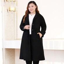 סתיו חדש בתוספת גודל 10xl 9xl 8xl ארוך תעלת מעיל לנשים 2018 מקרית מעיל נשים מעיל גברת משרד גדול גדלים בגדים