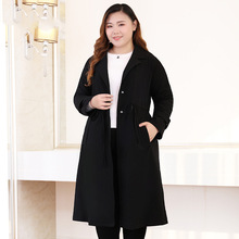 Sonbahar yeni artı boyutu 10xl 9xl 8xl uzun trençkot kadınlar için 2018 rahat ceket kadın palto ofis bayan büyük boyutları giyim