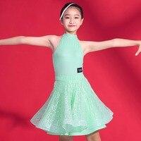 שמלות ריקוד לטיני סקסית עבור בנות ילדים נשי חצאית משי באיכות גבוהה לבן שחור ירוק שלב מראה אופנה Y033