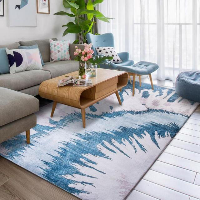 living room floor mats cream curtains ems free modern nordic style rectangle full carpet dining mat bedside table sofa rug door lobby foot pad