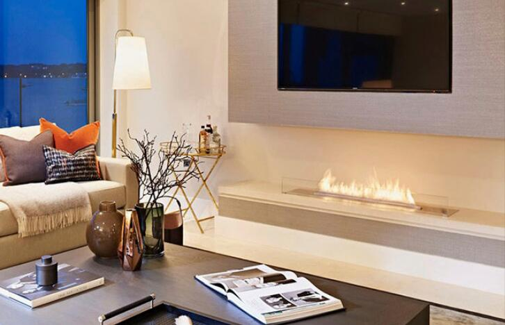 24 Inch Real Fire Automatic Intelligent Smart Bio Ethanol Electric Fireplace Heater