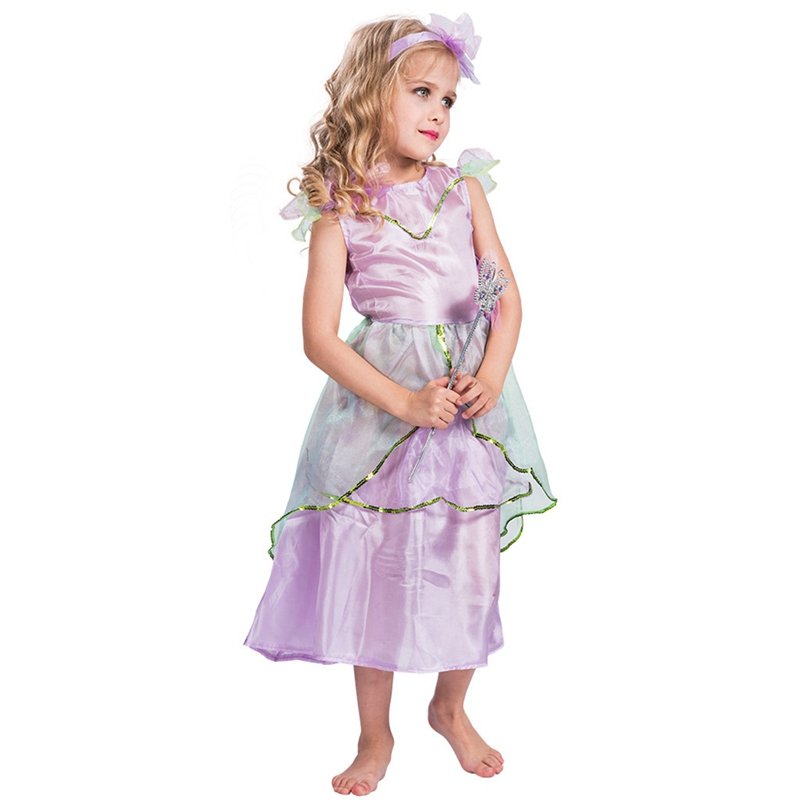 Girls Purple Princess Fairy Tale Book Day Fancy Dress Costume