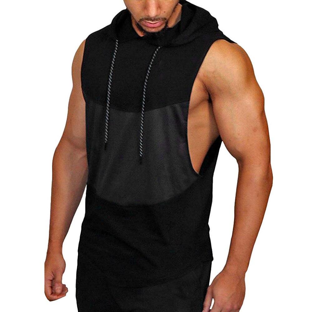 Tank     Top   Men Men's Summer Casual Patchwork Sleeveless Polyester Crop   Top   Male Bodybuilding Casual   Tops   Vest Blouse 19JAN14