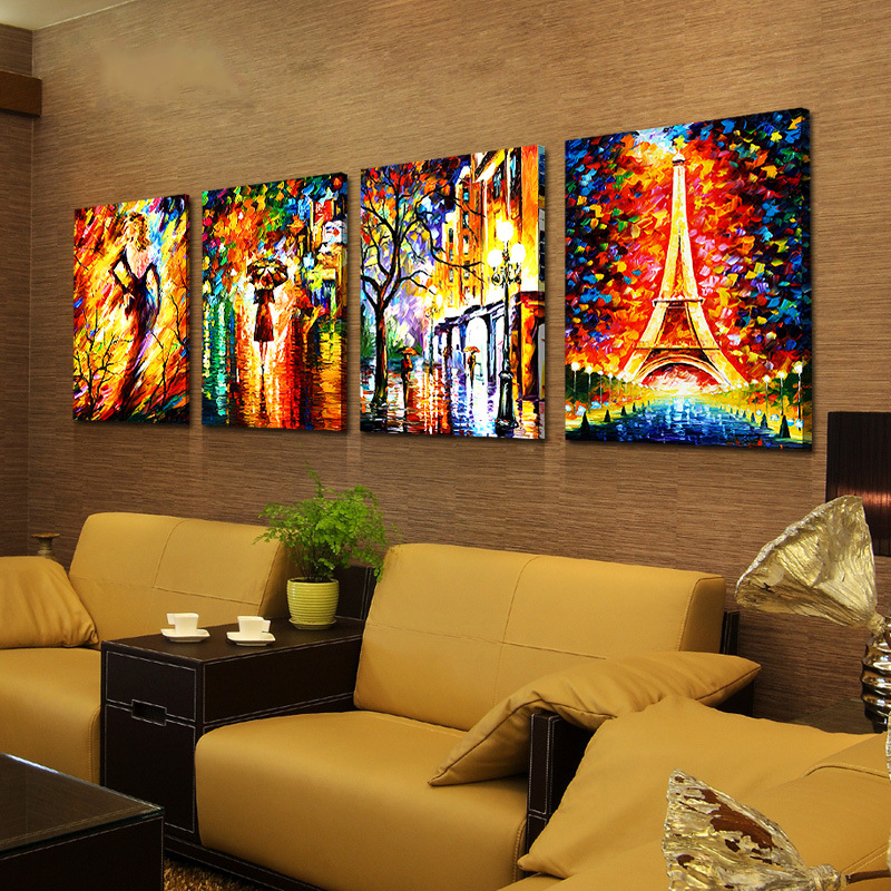 European decorative painting retro bar cafe abstract canvas painting for the living room sofa background wall paintings no frame-in Painting u0026 Calligraphy ... & European decorative painting retro bar cafe abstract canvas painting ...