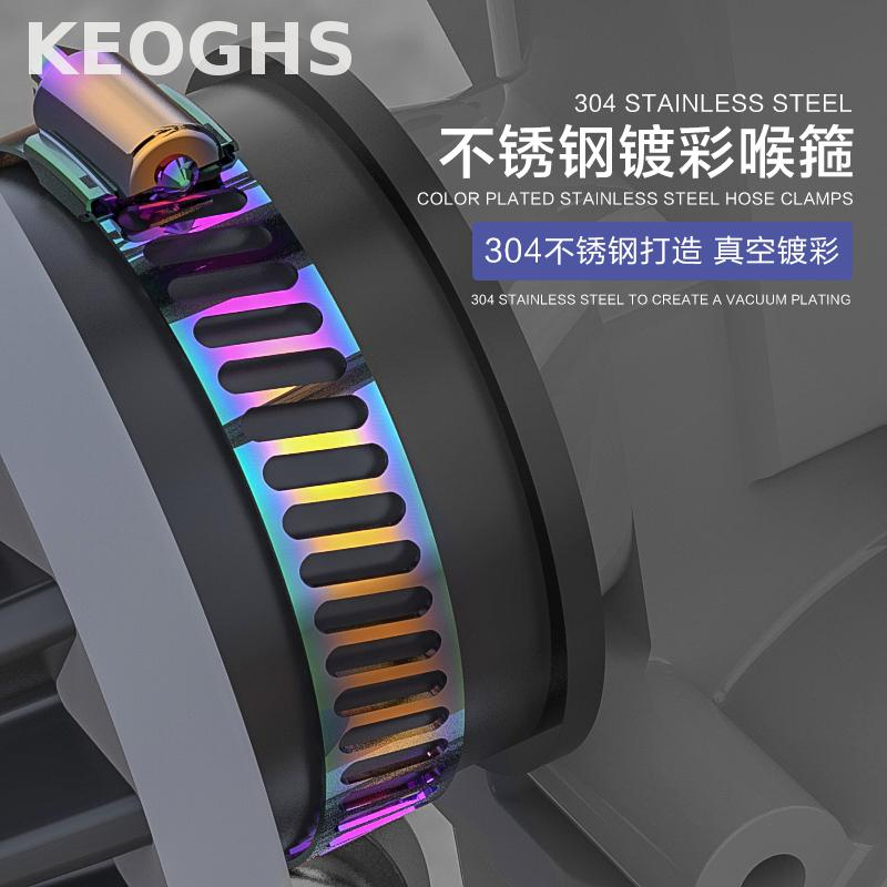 Keoghs Motorcycle Hose Clamps 304 Stainless Steel Colorful Process 10pcs Free Shipping For Honda Yamaha Kawasaki Suzuki Ktm Bmw keoghs motorcycle turn signals super quality all cnc aluminum alloy with angle eyes for honda yamaha ktm bmw aprilia kawasaki