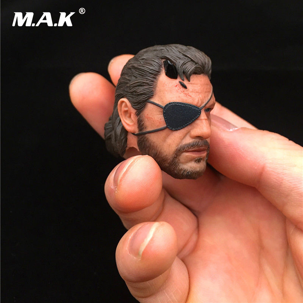 Old Snake Phantom legend V Ismael Male Head Sculpt 1/6 Scale Man Head Carving Accessory for 12'' Action Figure Body цена