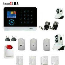 SmartYIBA APP Control 3G WIFI GPRS SMS Home Intruder Alarm System 2 HD IP Cameras Metal