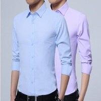 ECTIC 2018wei New Autumn Fashion Brand Men Clothes Slim Fit Men Long Sleeve Shirt Men
