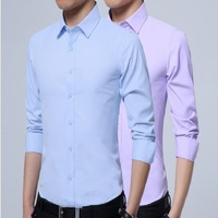 ECTIC 2018wei New Autumn Fashion Brand Men Clothes Slim Fit Men Long Sleeve Shirt Men Casual