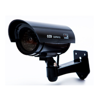 Dummy Camera Bullet Waterproof Fake Security Camera Fake CCTV Surveillance Camera With Flashing Red LED