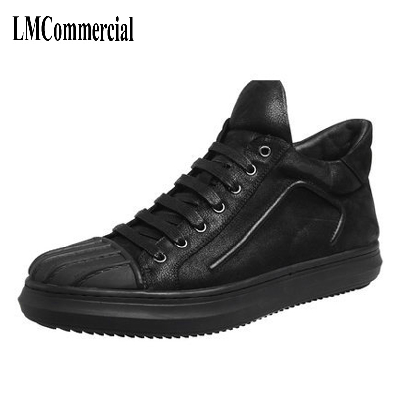 Autumn and winter leisure  for Europe leather shoes men shoes shell head high tide brand leather shoes men high tech and fashion electric product shell plastic mold