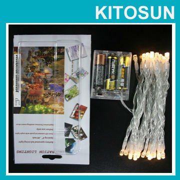Factory Supplier 3AA batteries operated Multi color led cord light Event party supplies light bulb string