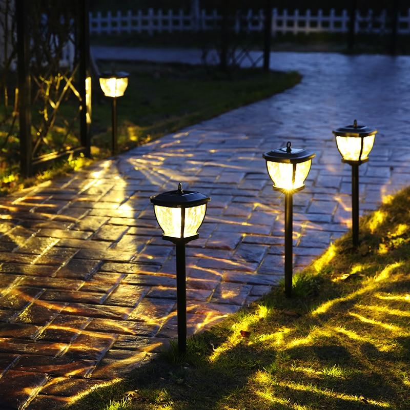 2 Led Solar Boden Lampe Ip65 Wasserdichte Outdoor Garten Dekoration Landschaft Rasen Pfad Treppen Unterirdischen Begraben Nacht Licht Waren Jeder Beschreibung Sind VerfüGbar Solarlampen