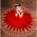 Vestidos de los niños, Tutú largo rendimiento ropa, Vestidos de Flores Niña, Banquete de Boda, Vestido de noche De Cumpleaños de Princesa vestidos
