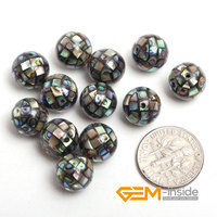 10mm Round Abalone Shell Beads Natural Shell Beads DIY Loose Beads For Jewelry Making 12 Piece