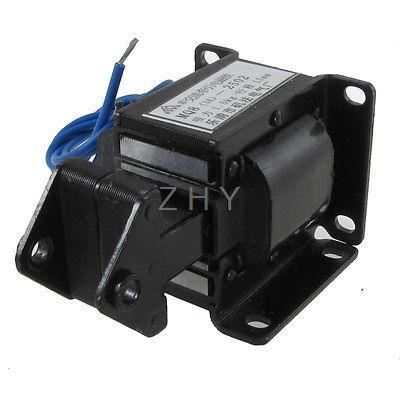 цена на 1PC SA-3502 AC 110V AC 220V AC 380V Suction 3KG Stroke 10mm Tractive Type Solenoid Electromagnet