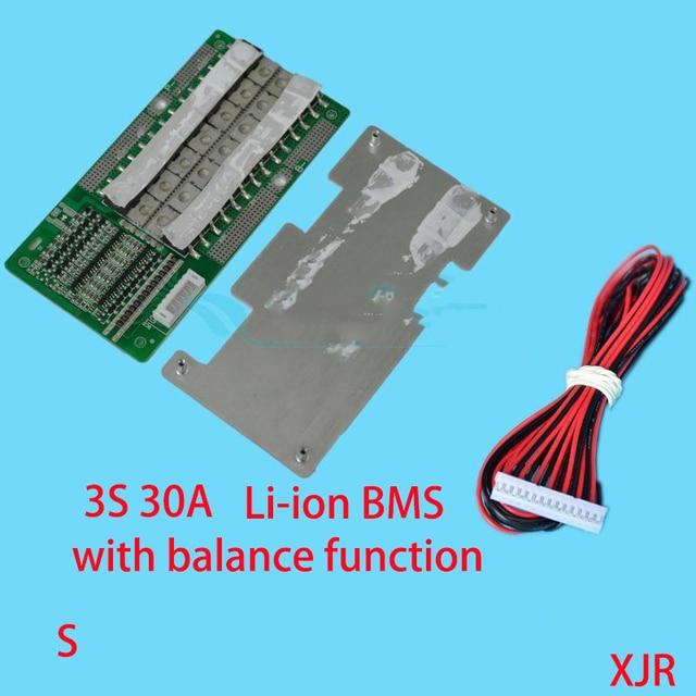 3 S 30A versione S lipo Polimeri di litio BMS/PCM/PCB batteria protection board per 3 Pacco 18650 Cellula di Batteria li-ion w/Balance