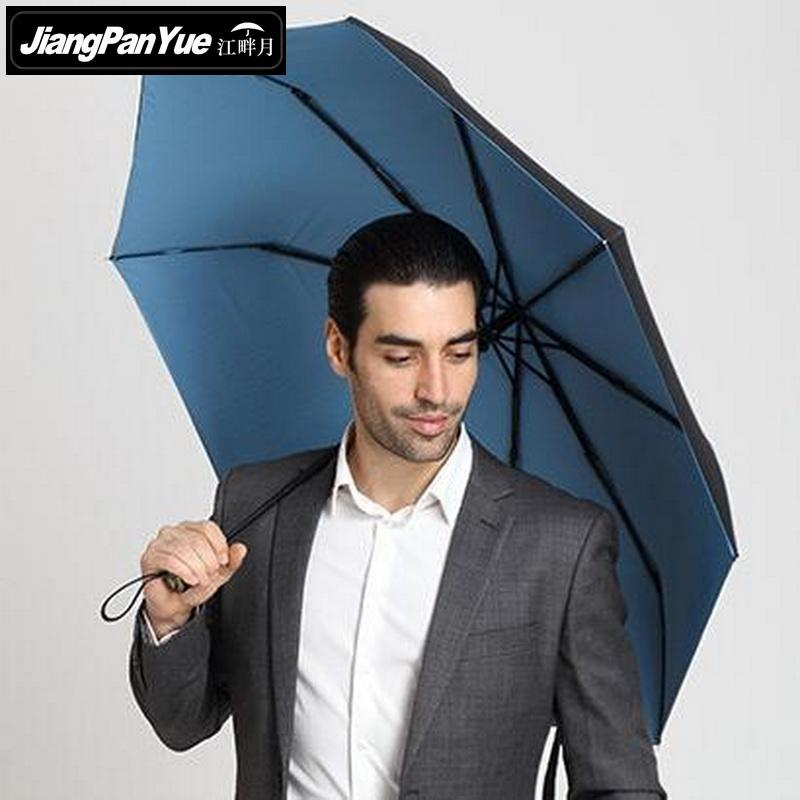 Neue High-End Männer Business Folding Automatic Umbrella Doppel Wind - Haushaltswaren